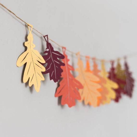 _oak-leaf-papercut-garland