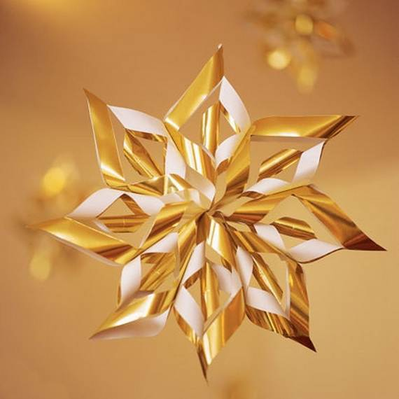 Paper Star Christmas Ornaments