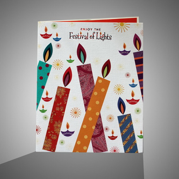 Diwali Homemade Greeting Cards Ideas