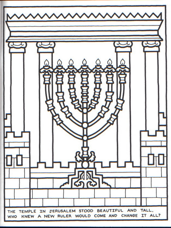 Hanukkah Coloring Pages: Menorahs | family holiday.net ...