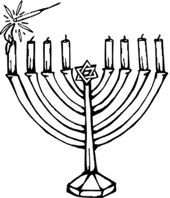 Hanukkah Coloring Pages: Menorahs - family holiday.net ...