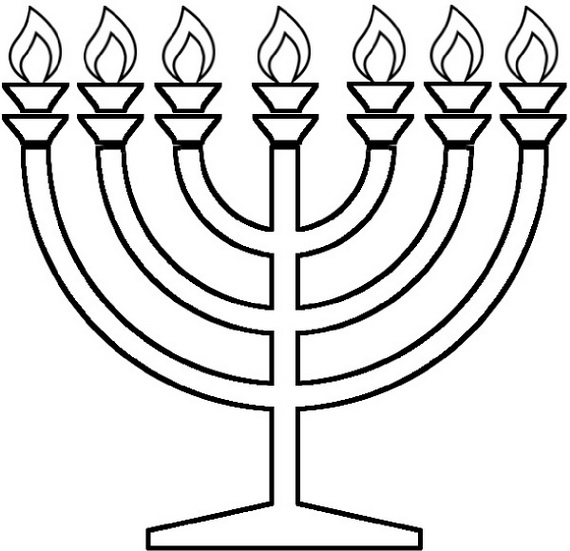 Hanukkah Coloring Pages Menorahs Family Holiday Net Guide