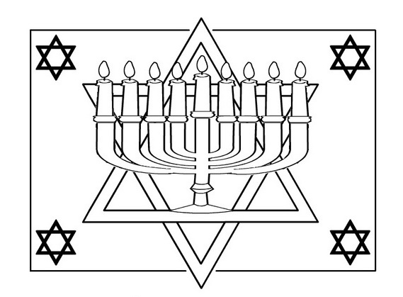Hanukkah: Star of David Coloring Pages | family holiday ...