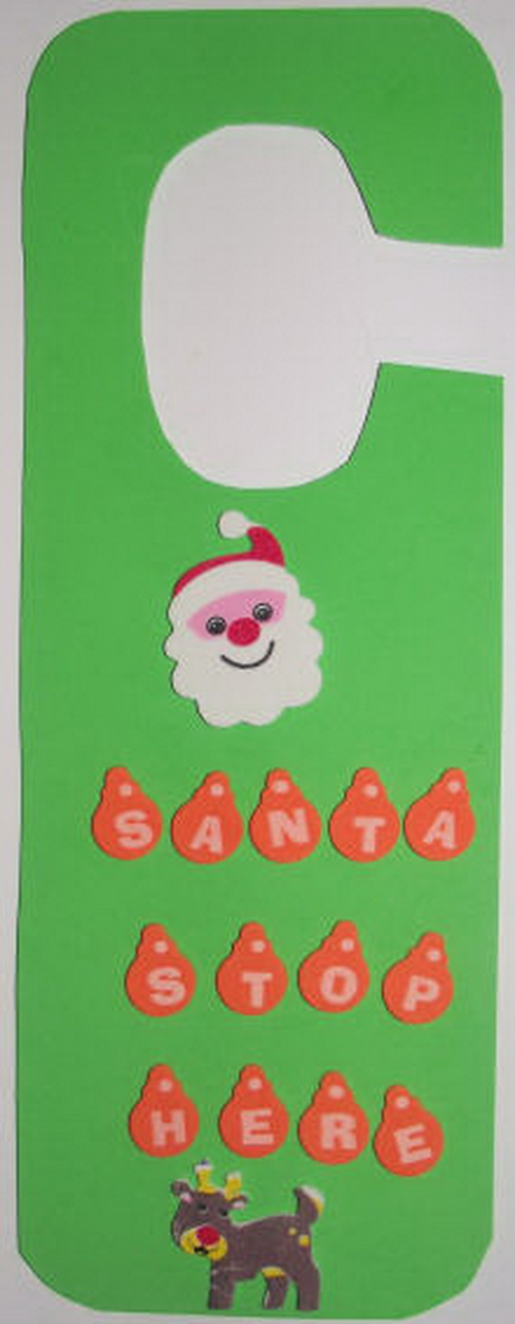 Homemade Christmas Door Hanger