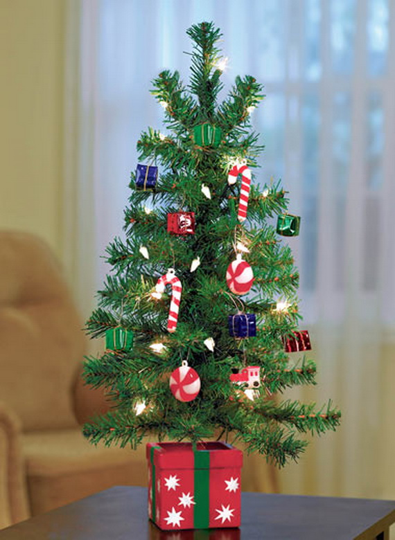 Miniature Tabletop Christmas Tree Decorating Ideas Family
