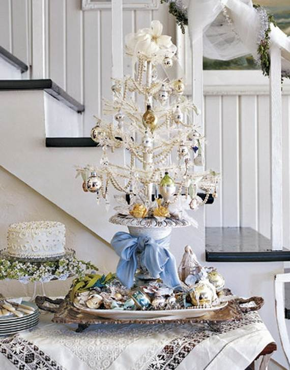 Miniature Tabletop Christmas Tree Decorating Ideas 281
