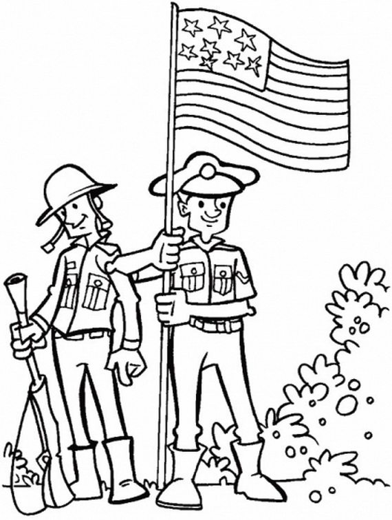 More Coloring Pages for Veterans Day - family holiday.net ...