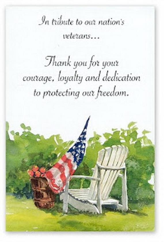Patriotic Greeting Cards For Veteran S Day Family