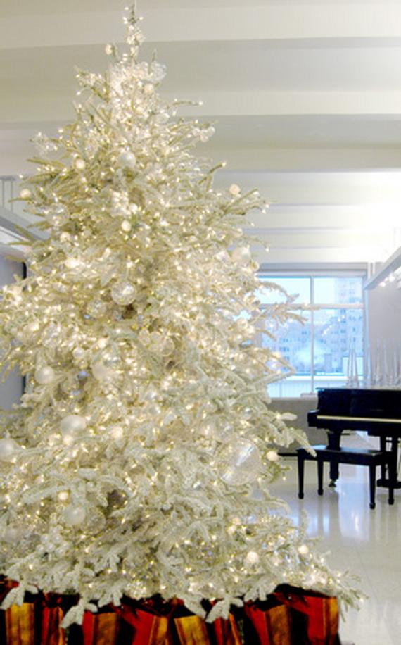 White Christmas Tree Decorating Ideas.White Christmas Decorating Ideas Family Holiday Net Guide