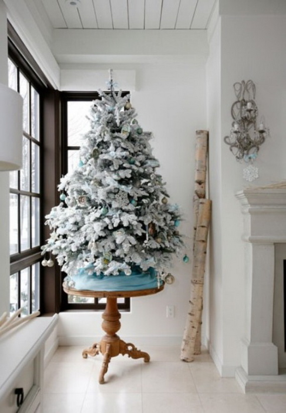 White Christmas Tree Ideas.White Christmas Decorating Ideas Family Holiday Net Guide