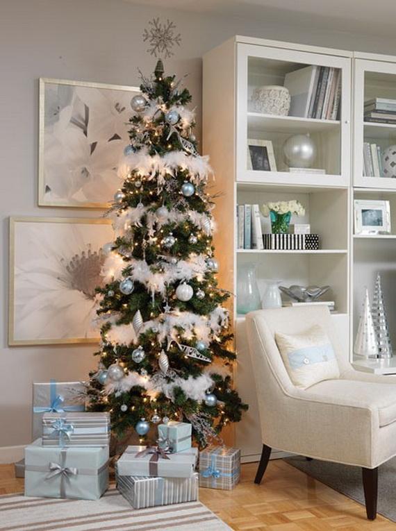 White Christmas Tree Theme.White Christmas Decorating Ideas Family Holiday Net Guide