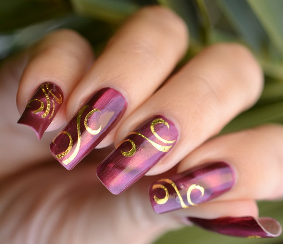 Creative Hot Fashion New Year Eve Nail Art Designs 2013 Family Holiday Net Guide To Family
