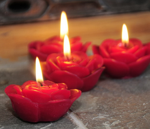Beautiful- and -Romantic- Candle - Decorations- for- Valentine's- Day_23