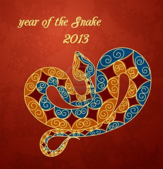 Lunar Chinese New Year 2013 Greetings Holiday Cards Year of the Snake _03