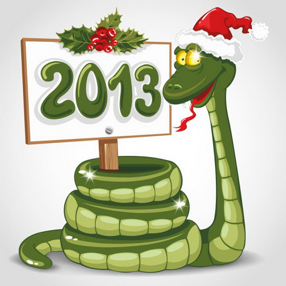Lunar Chinese New Year 2013 Greetings Holiday Cards Year of the Snake _05
