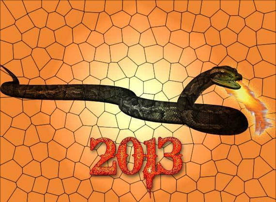 Lunar Chinese New Year 2013 Greetings Holiday Cards Year of the Snake _07