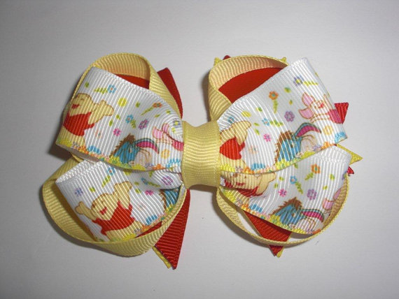 Winnie the Pooh Elegant Hair Bows For Girls _12