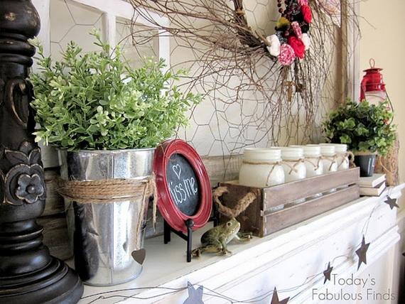 65 -Gorgeous- Valentine's- Day- Mantel- Décor- Ideas_05