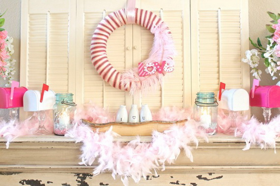 65 -Gorgeous- Valentine's- Day- Mantel- Décor- Ideas_11