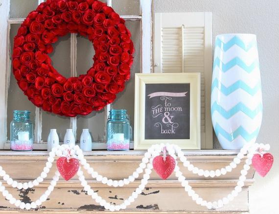 65 -Gorgeous- Valentine's- Day- Mantel- Décor- Ideas_18