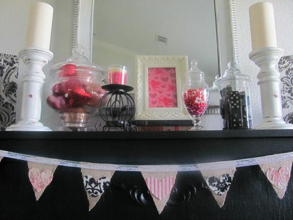 65 -Gorgeous- Valentine's- Day- Mantel- Décor- Ideas_42