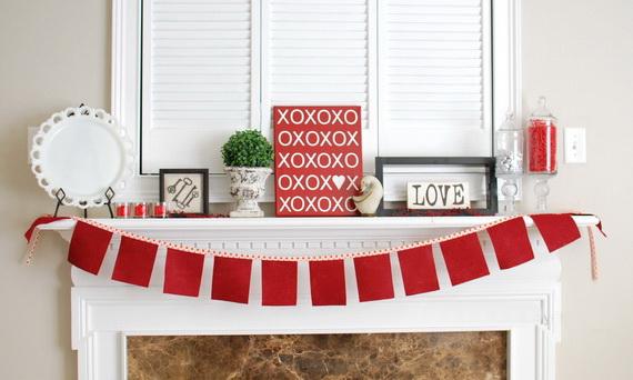 65 -Gorgeous- Valentine's- Day- Mantel- Décor- Ideas_49