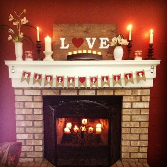 65 -Gorgeous- Valentine's- Day- Mantel- Décor- Ideas_50