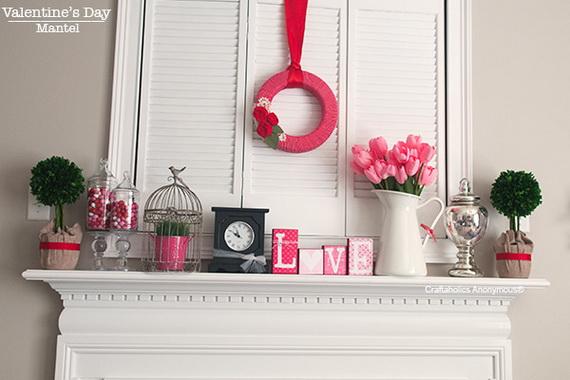 65 -Gorgeous- Valentine's- Day- Mantel- Décor- Ideas_53