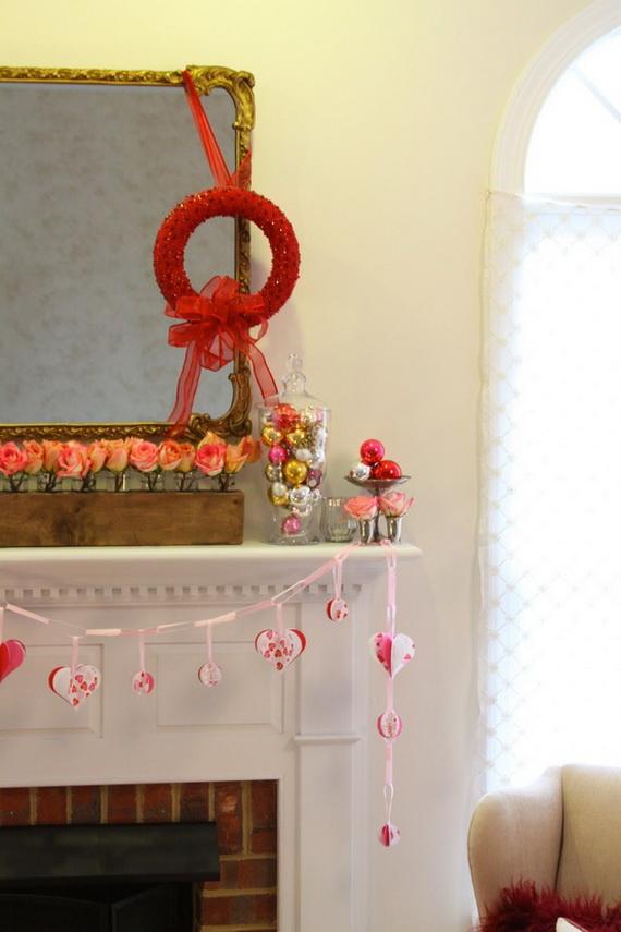 65 -Gorgeous- Valentine's- Day- Mantel- Décor- Ideas_55