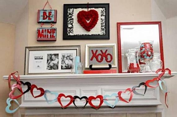 65 -Gorgeous- Valentine's- Day- Mantel- Décor- Ideas_56
