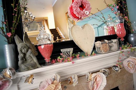 65 -Gorgeous- Valentine's- Day- Mantel- Décor- Ideas_64