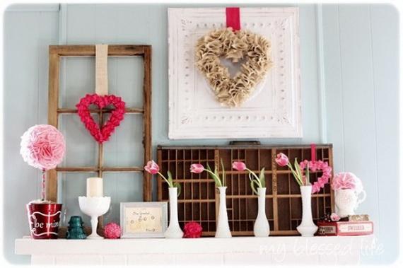 65 -Gorgeous- Valentine's- Day- Mantel- Décor- Ideas_65