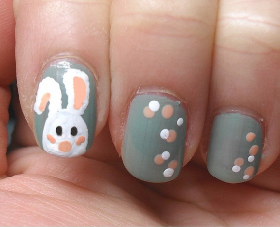 Cute- Easy Easter- Bunny- Nails- Ideas_06