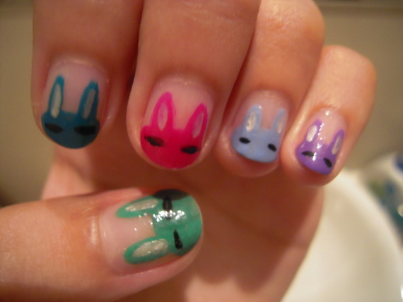 Cute- Easy Easter- Bunny- Nails- Ideas_10
