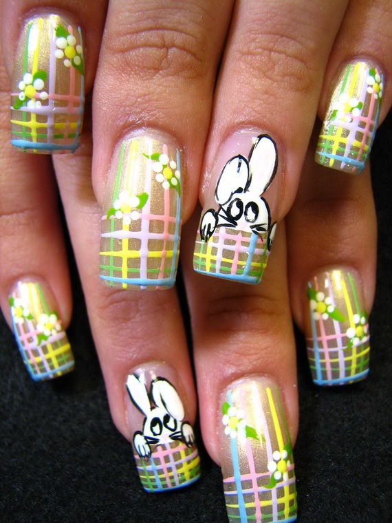 Cute- Easy Easter- Bunny- Nails- Ideas_21