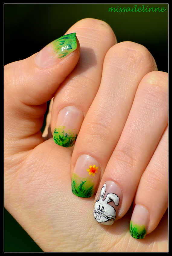 Cute- Easy Easter- Bunny- Nails- Ideas_22