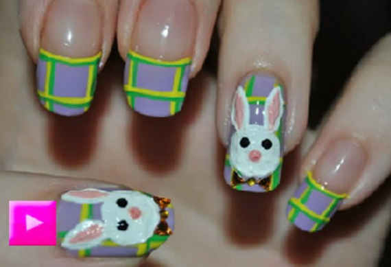 Cute- Easy Easter- Bunny- Nails- Ideas_29