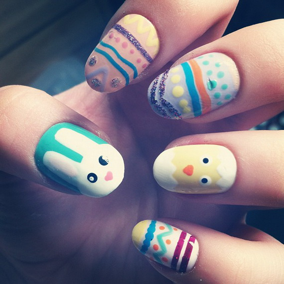 Cute- Easy Easter- Bunny- Nails- Ideas_42