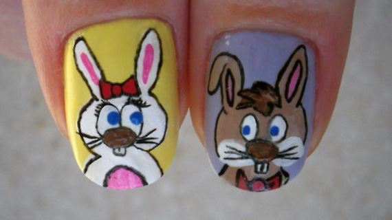 Cute- Easy Easter- Bunny- Nails- Ideas_44