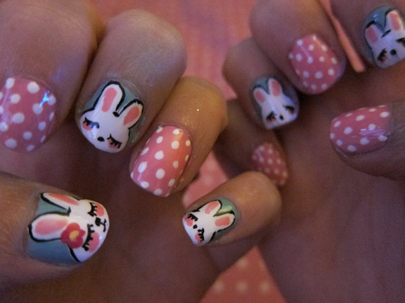 Cute- Easy Easter- Bunny- Nails- Ideas_45