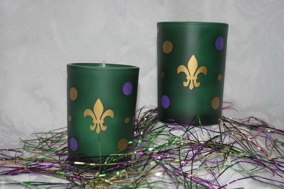 Mardi- Gras- Candle -Decorations