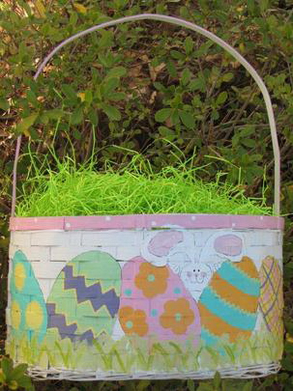 Hand painted Easter baskets