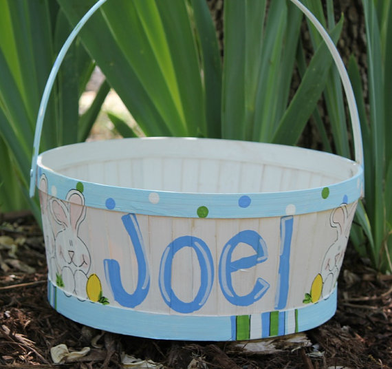 Personalized- Hand- Painted- Girl- Bunny- Easter- Basket- Ideas_28