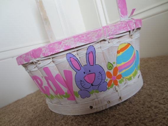 Personalized- Hand- Painted- Girl- Bunny- Easter- Basket- Ideas_38