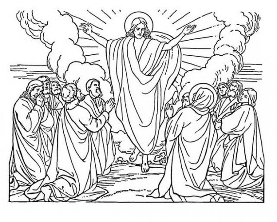 Ascension Coloring Page - Coloring Home | 458x570