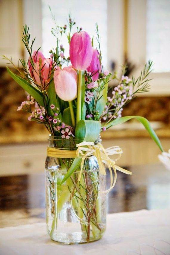 Creative Mothers Day Table Centerpiece Decoration Ideas (7)