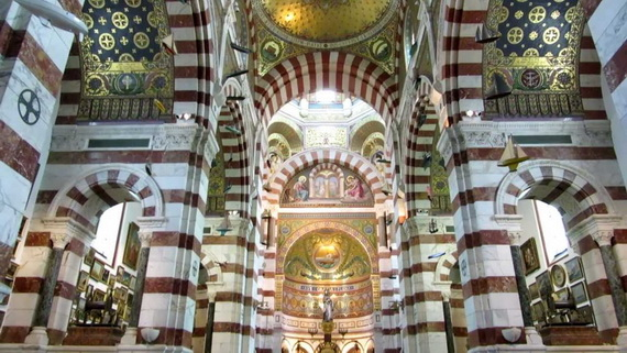 Catholic Basilica of Notre-Dame de la Garde Marseille's Queen of Hearts _15