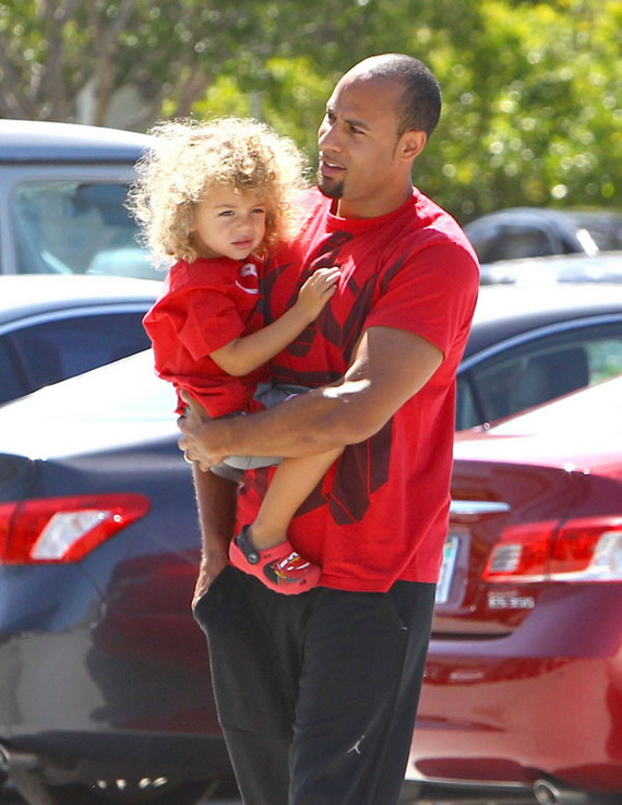 Hank Baskett Spends Time With His Son