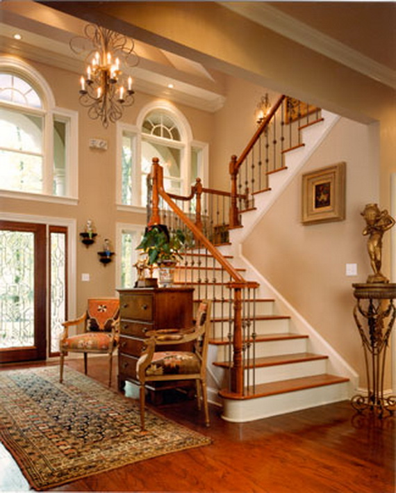 50 Unique Fall Staircase Decor Ideas_09