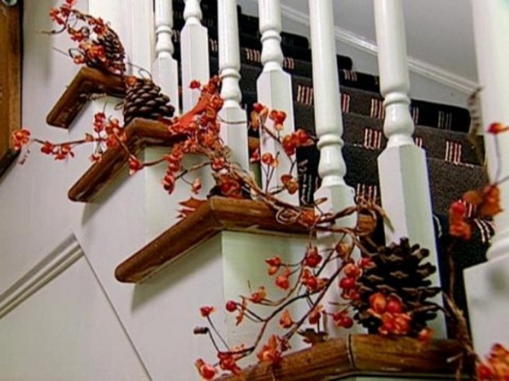 50 Unique Fall Staircase Decor Ideas_23
